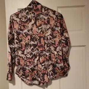 Victoria's Secret Tops - Polyester button down sleeping shirt